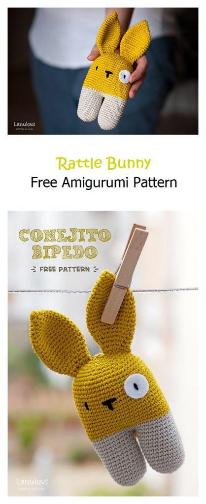 Rattle Bunny Free Amigurumi Pattern