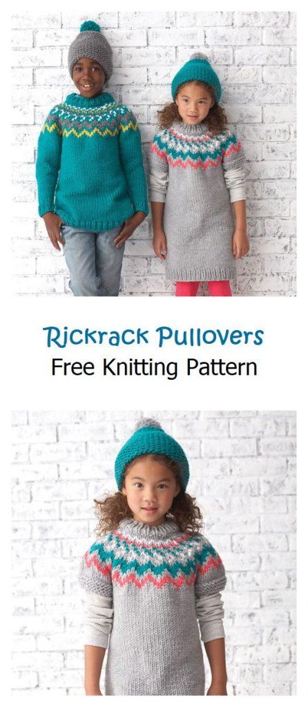 Rickrack Pullovers Free Knitting Pattern