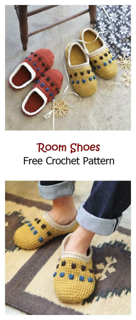 Room Shoes Free Crochet Pattern
