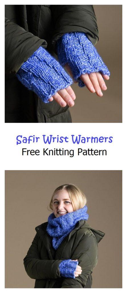 Safir Wrist Warmers Free Knitting Pattern