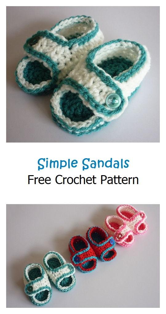Simple Sandals Free Crochet Pattern