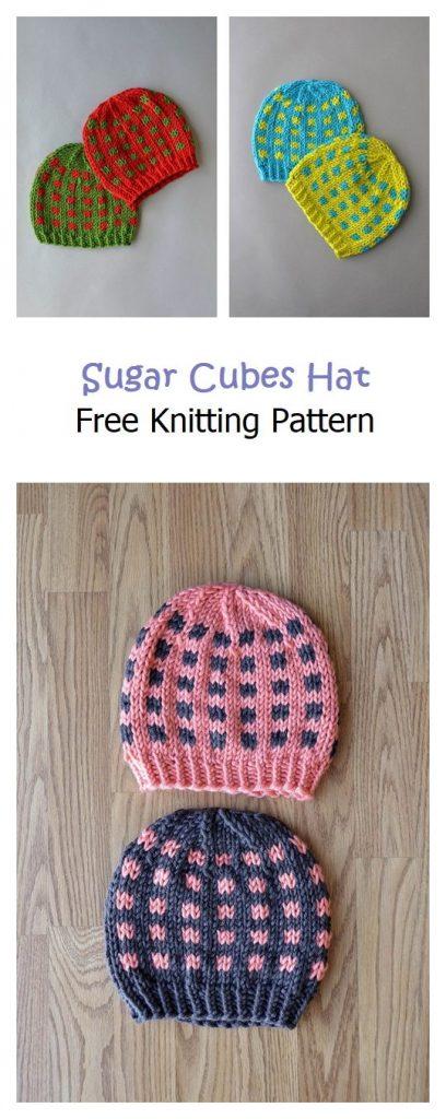 Sugar Cubes Hat Free Knitting Pattern