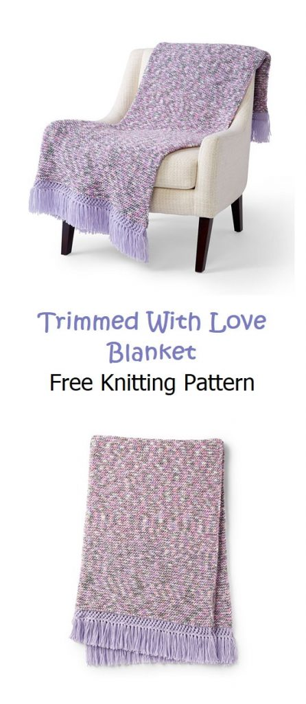 Trimmed With Love Blanket Pattern