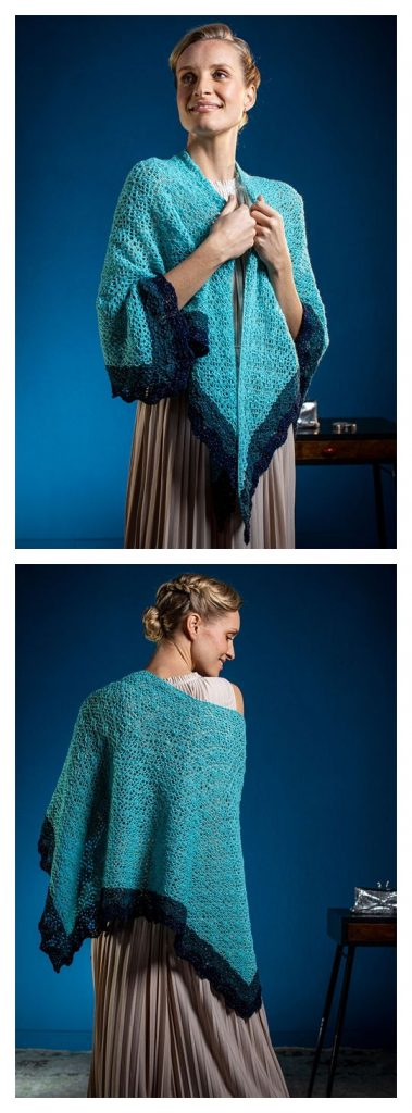 Venetian Shawl Free Knitting Pattern