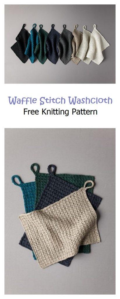 Waffle Stitch Washcloth Pattern