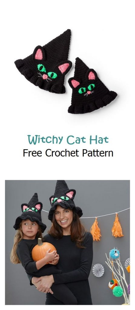 Witchy Cat Hat Free Crochet Pattern