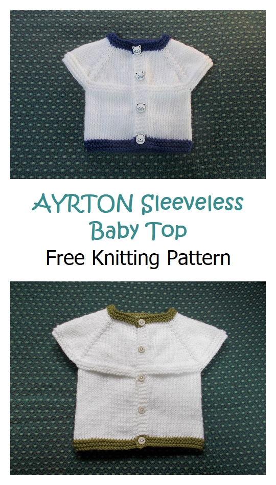 AYRTON Sleeveless Baby Top Pattern