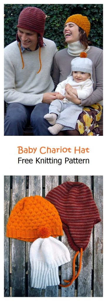 Baby Chariot Hat Free Knitting Pattern