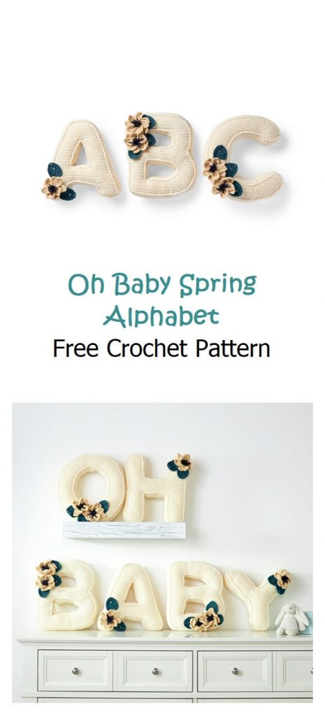 Oh Baby Spring Alphabet Free Pattern