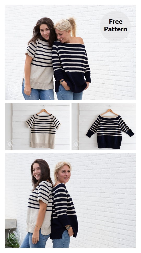 Breton Striped Sweater Free Knitting Pattern