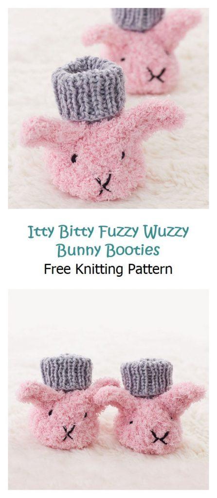 Itty Bitty Fuzzy Wuzzy Bunny Booties Pattern