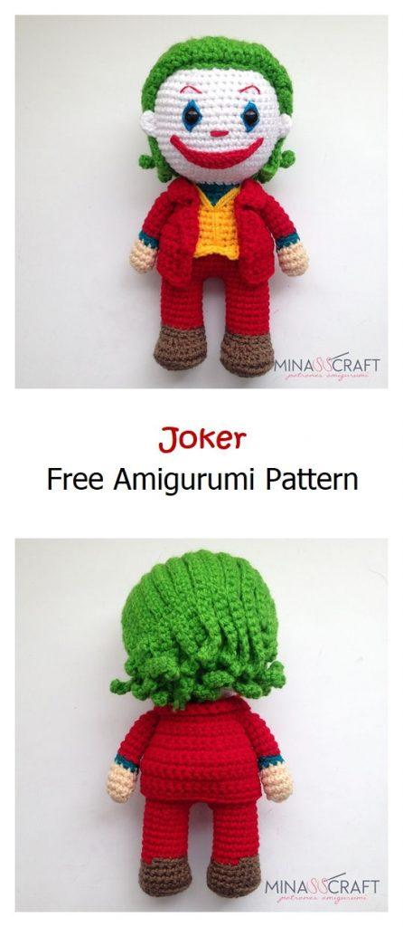 Joker Free Amigurumi Pattern