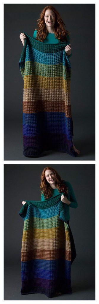 Level 3 Afghan Blanket Free Knitting Pattern