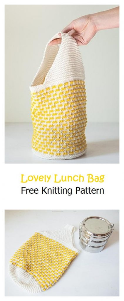 Lovely Lunch Bag Free Knitting Pattern