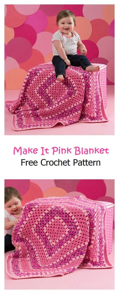 Make It Pink Blanket Free Crochet Pattern