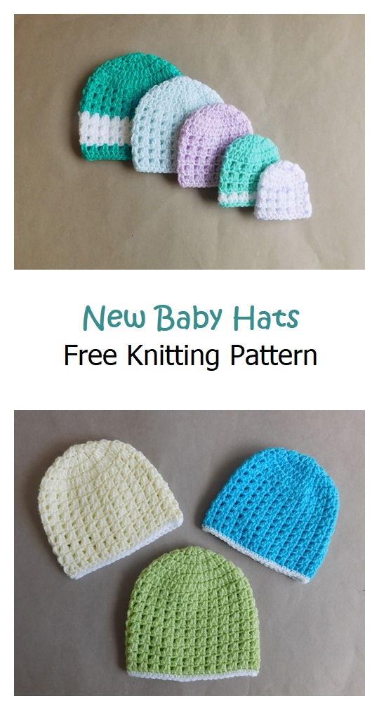 New Baby Hats Free Crochet Pattern