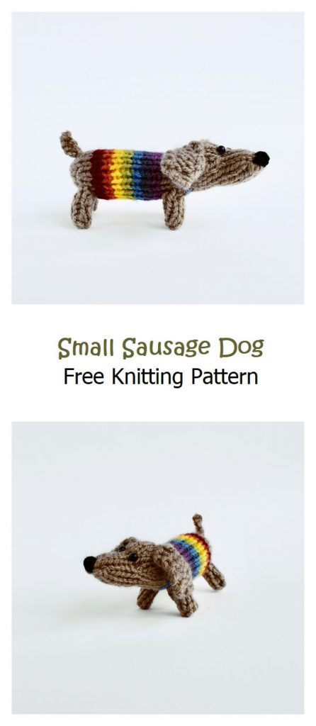 Small Sausage Dog Free Knitting Pattern