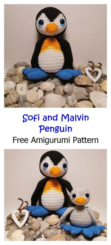 Sofi and Malvin Penguin Pattern