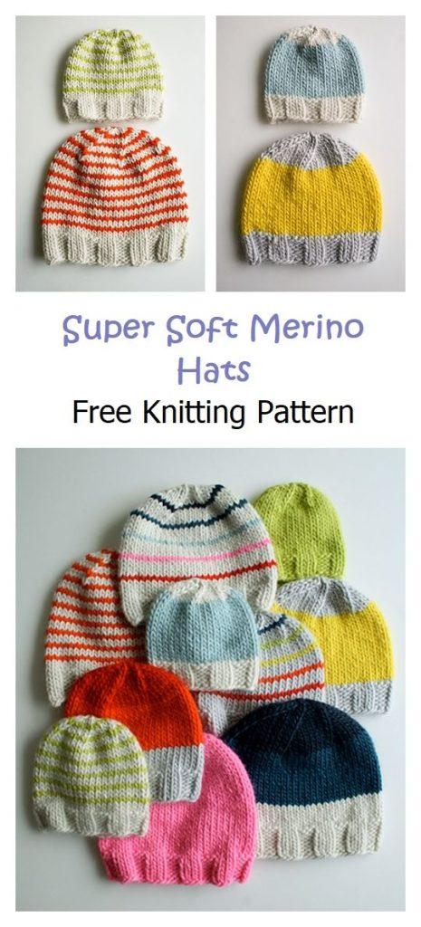 Super Soft Merino Hats Pattern