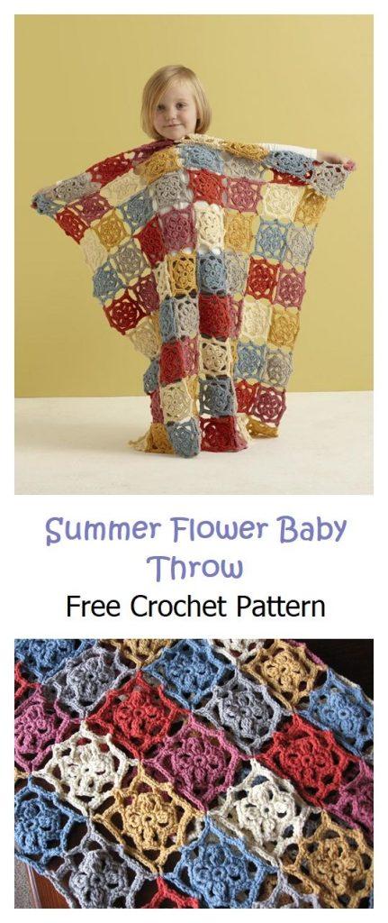 Summer Flower Baby Throw Free Patterns