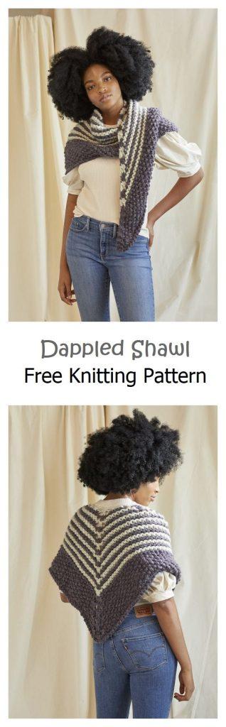 Dappled Shawl Free Knitting Pattern