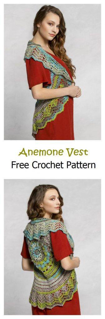 Anemone Vest Free Crochet Pattern