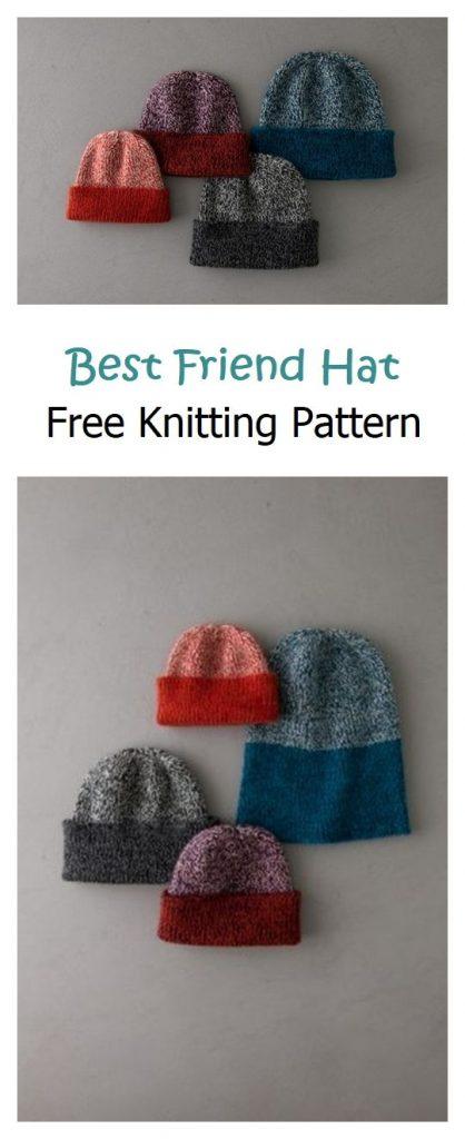 Best Friend Hat Free Knitting Pattern