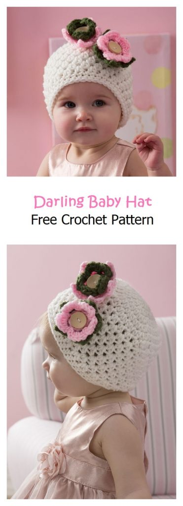 Darling Baby Hat Free Crochet Pattern