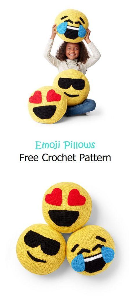 Emoji Pillows Free Crochet Pattern