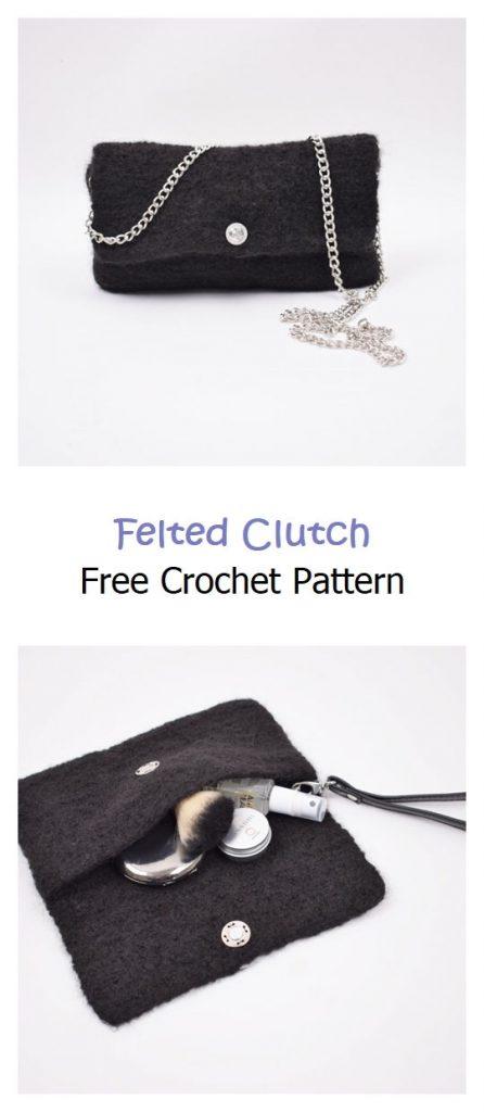 Felted Clutch Free Crochet Pattern
