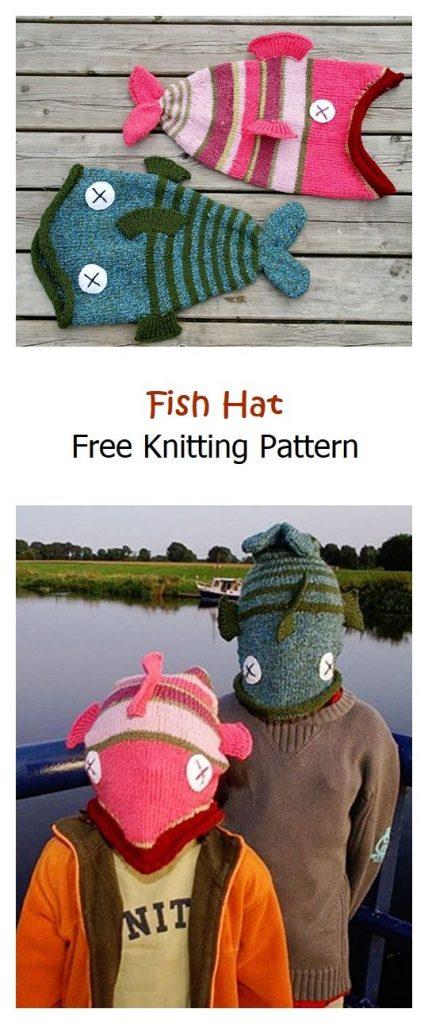 Fish Hat Free Knitting Pattern