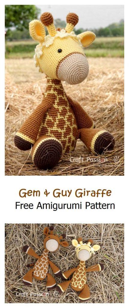 Gem & Guy Giraffe Free Amigurumi Pattern