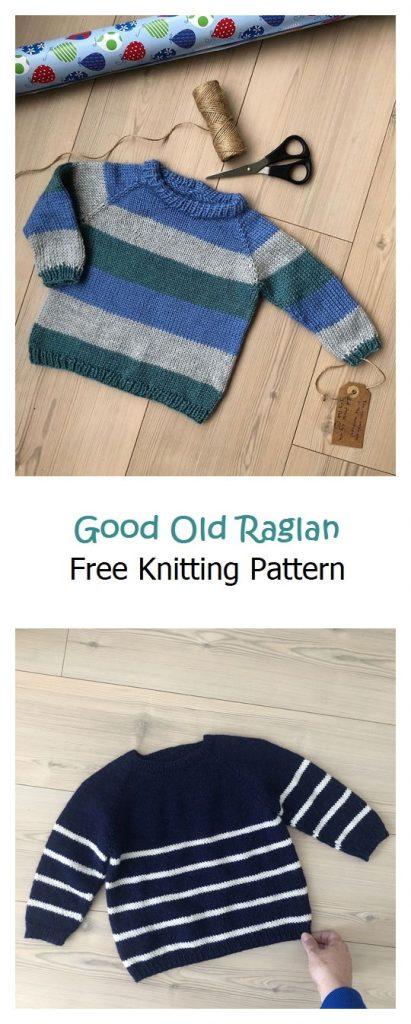Good Old Raglan Free Knitting Pattern