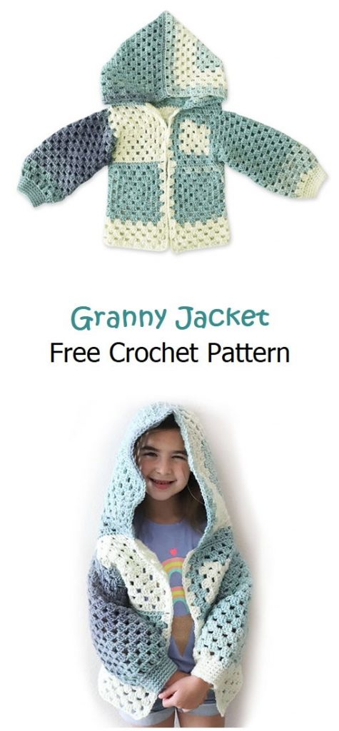 Granny Jacket Free Crochet Pattern