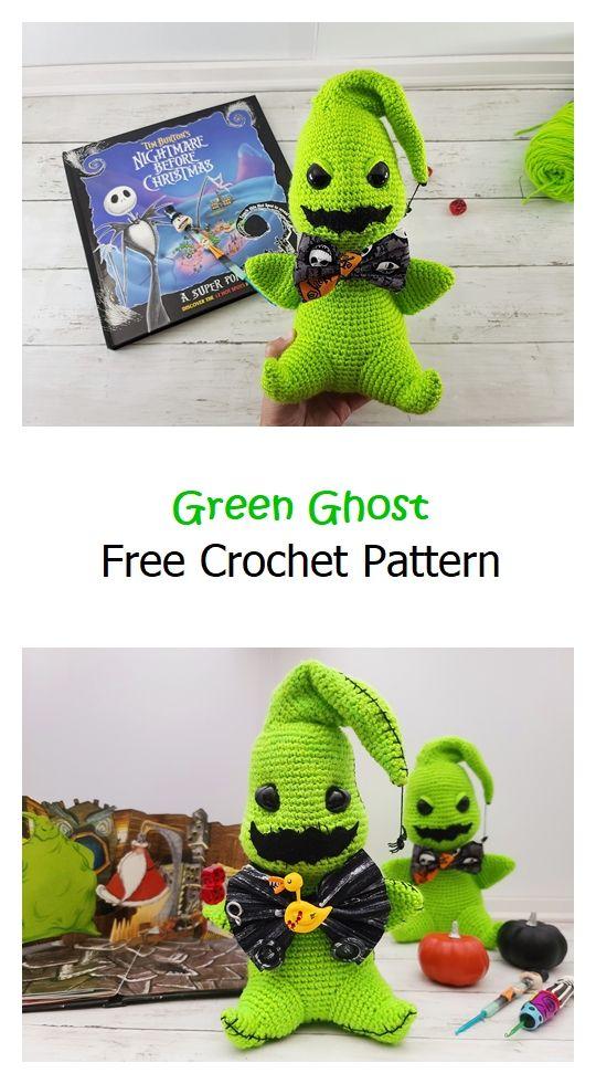 Green Ghost Free Crochet Pattern