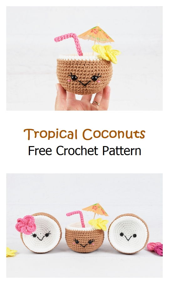 Tropical Coconuts Free Crochet Pattern