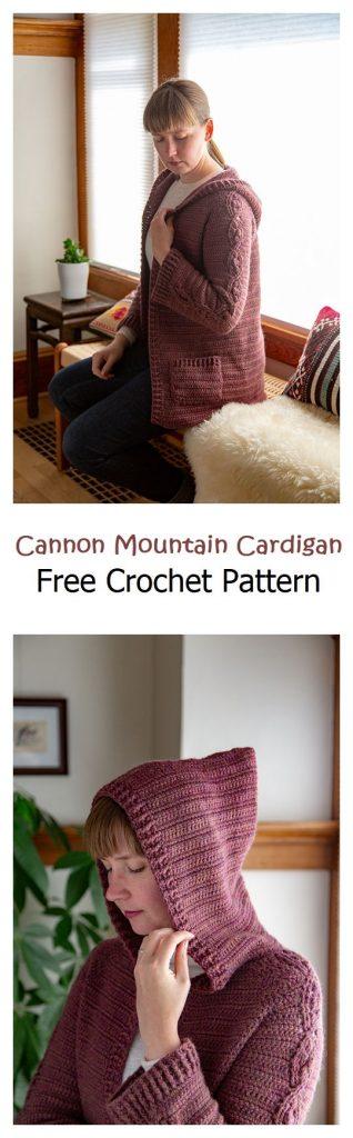 Cannon Mountain Cardigan Free Crochet Pattern