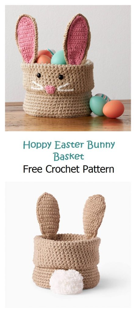 Hoppy Easter Bunny Basket Free Pattern