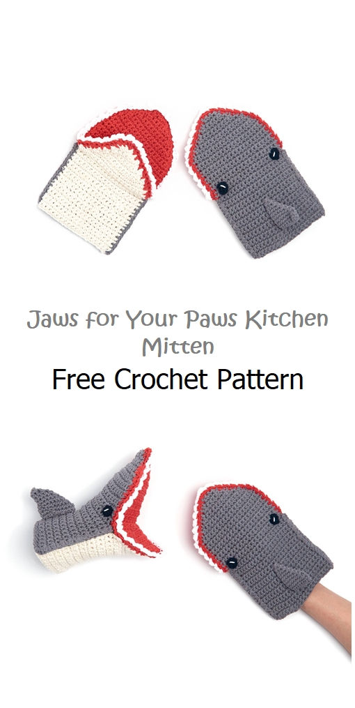 Jaws for Your Paws Kitchen Mitten Pattern