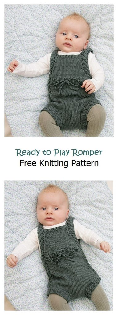 Ready to Play Romper Free Knitting Pattern