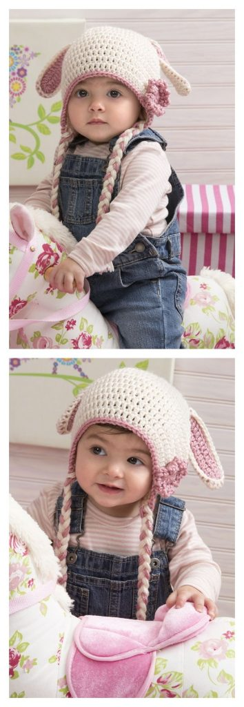Sweet Bunny Hat Free Crochet Pattern