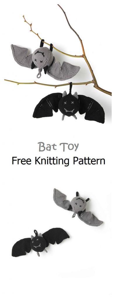 Bat Toy Free Knitting Pattern