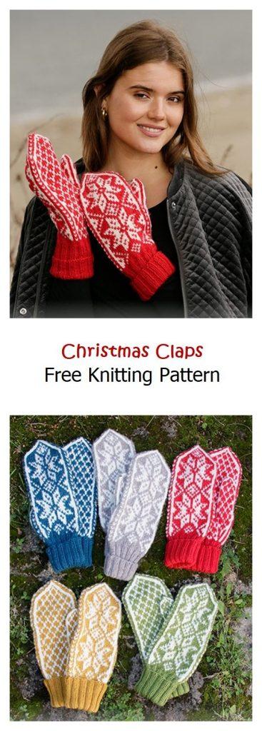 Christmas Claps Free Knitting Pattern