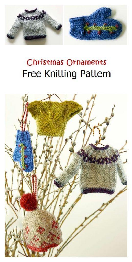 Christmas Ornaments Free Knitting Pattern