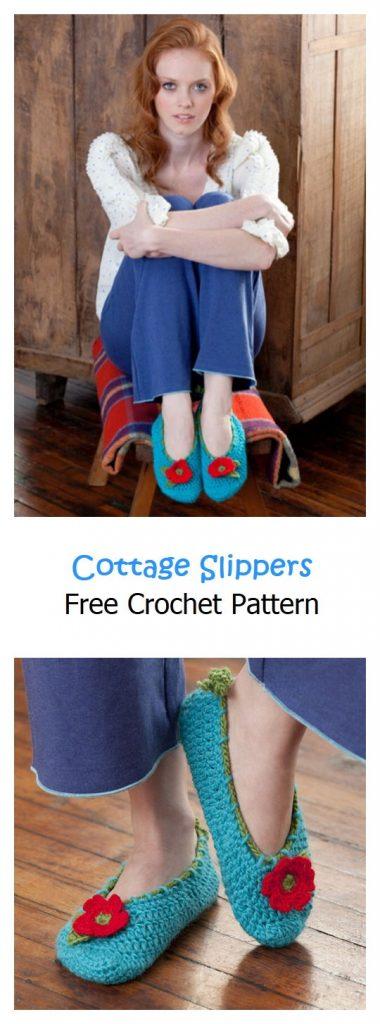 Cottage Slippers Free Crochet Pattern