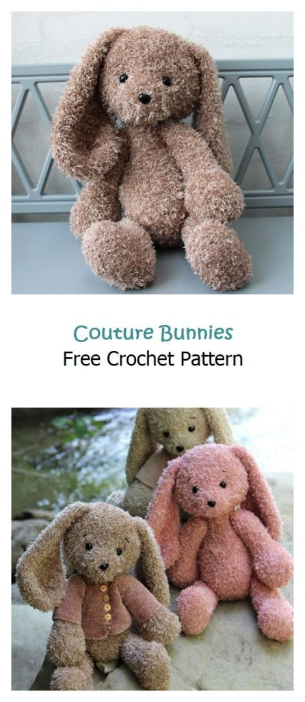 Couture Bunnies Free Crochet Pattern