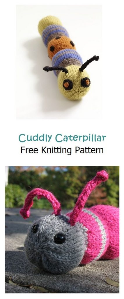 Cuddly Caterpillar Free Knitting Pattern