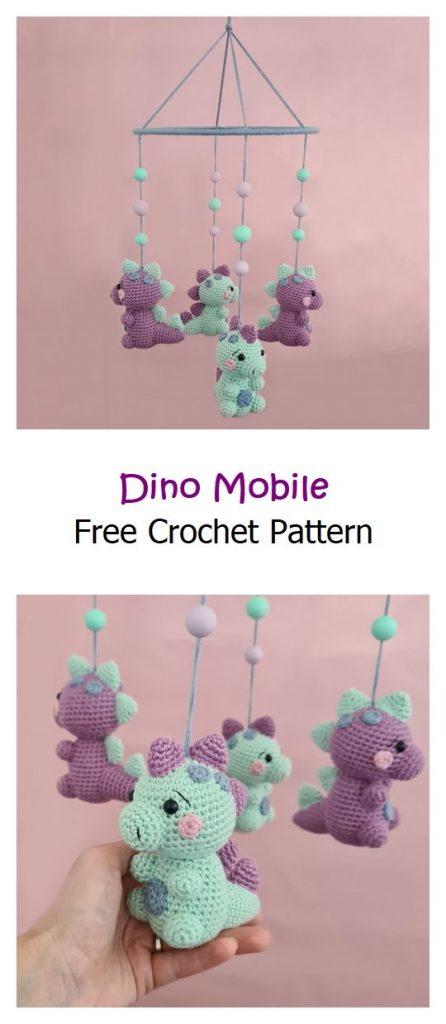 Dino Mobile Free Crochet Pattern