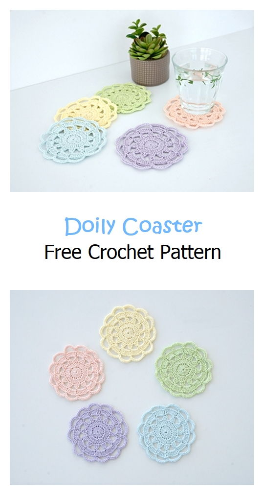 Doily Coaster Free Crochet Pattern