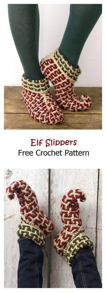 Elf Slippers Free Crochet Pattern